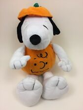 Hallmark Halloween Snoopy in Charlie Brown Pumpkin Costume Plush 15""