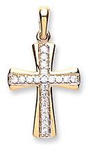 Oro Colgante De Cruz Oro Amarillo Collar De Cruz