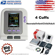 CONTEC-08A Digital Blood Pressure Monitor Upper Arm BP Cuffs+SW Adult/Pediatric