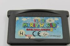 NINTENDO GBA GAME BOY ADVANCE SUPER MARIO WORLD MARIO ADVANCE 2 CARTUCHO PAL EUR
