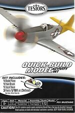 Testors P51 Mustang Quick Build Aircraft Airplane Wwii Model Kit