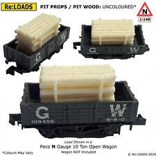 Pit Props / Pit Wood, Lumber Timber Load fits Peco, Farish N Gauge 10 Ton Wagon
