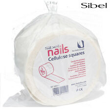 Sibel 500x Professional Cellulose Nail Squares Lint Free Cosmetic Polish Wipes
