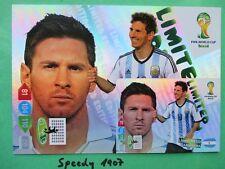 Fifa World Cup brasil 2014 XXL Limited Edition messi WM Panini Adrenalyn