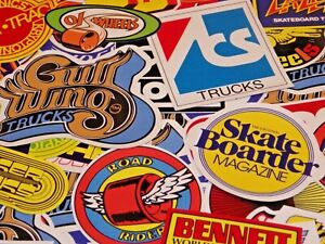 9 Iconic Vintage 70's Skateboard Stickers
