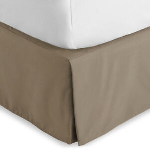 Bare Home Bed Skirt Double Brushed Premium Microfiber, 15-Inch Tailored TWIN