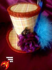 Steampunk Mini cappello Cappellaio Matto Alice nel paese delle meraviglie Lolita Rosso Cosplay