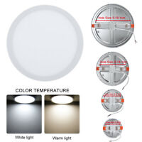 Round LED Ceiling Panel Light Hole Adjustable Recessed Downlight 6/8/15/20W Lamp