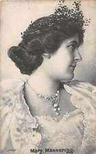Mary Mannering English Actress Antique Postcard J49791