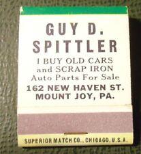 Matchbook - Guy Spittler Junk Yard? Mount Joy PA pinup FULL