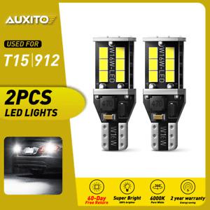 LED Backup Reverse Light Bulbs 921 912 2835 916 922 T15 6000K Xenon White CANBUS