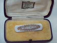 """VINTAGE JEWELLERY FABULOUS MOTHER OF PEARL """"MOTHER"""" (OF THE BRIDE) BROOCH/PIN"""