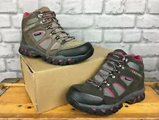 KARRIMOR LADIES UK 4 EU 37 DARK GREY PINK BODMIN MID IV WALKING HIKING BOOTS