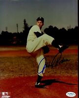 Johnny Podres Brooklyn Dodgers Signed Jsa Sticker 8x10 Photo Authentic Autograph