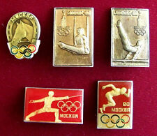 5 Russian Soviet Union USSR Moscow 1980 Olympic Summer Games  Pin Badge Set Lot