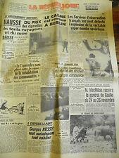 La République du centre n° 4900 Lundi 30 octobre 1961