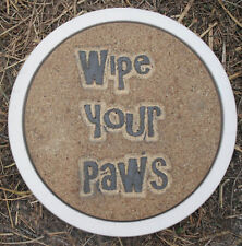 """Dog stepping stone plastic mold  12"""" x 1.5"""" thick plaster concrete mould"""