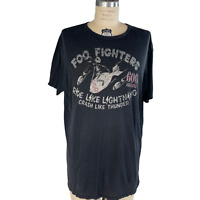 Johnson Motors Foo Fighters T Shirt Size Large Mens Distressed Short Sleeves