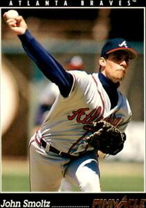 1993 Pinnacle John Smoltz Base #143 - Atlanta Braves
