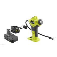 Cordless Inflator Kit 18V Lithium Ion Lightweight High Pressure Needle Nozzle