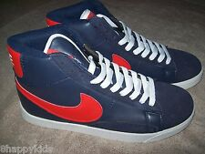 NEW NWOT Nike Delta Force High 2008 Basketball Athletic Shoes Red White Blue  9