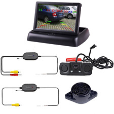 Podofo Wireless Car Bcakup Camera 3in1 Reverse Camera Parking Sensors Radar Dete