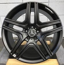"22"" Wheels fit Mercedes ML350 ML500 GL450 GL550 R350 Set (4) Satin Black Rims"