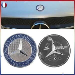 Logo Capot Mercedes Benz AMG Bleu 57mm Emblème CLASSE A B C E S CLA CLS GLA GLC