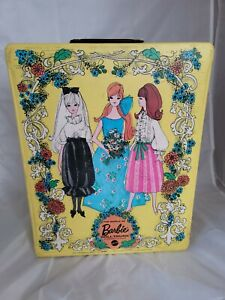 Vintage Barbie Trunk Yellow 1969 Mattel The World Of Barbie Doll - Doll Trunk