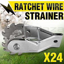 24x Ratchet Wire Fence Strainer Inline Tensioner Electric Fencing Energiser