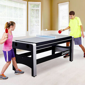 """4-in-1 Swivel Combo Game Table Hockey Billiards Table Tennis Basketball 72"""" New"""