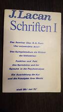 Lacan Schriften 1. 1973 Walter Verlag. Rare.