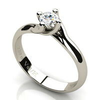 0.30 CT Round Diamond Solitaire Engagement Ring 18K White Gold H Clarity VS1 NEW