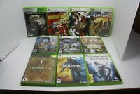 Lot Of (10) - XBOX 360 Action Games:Fallout 3,Borderlands,The Outfit,Morrowind..