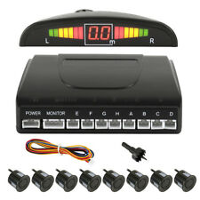 8 Parking Sensors LED Car Auto Backup Reverse Rear Radar System Alert Alarm Kit
