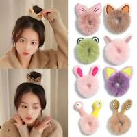 Hair Rope Women Ponytail Holder Rubber Bands Cute Girls Faux Fur Animal ear