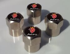 SAAB AERO ALUMINIUM TYRE VALVE CAPS FOR TIRE WHEEL