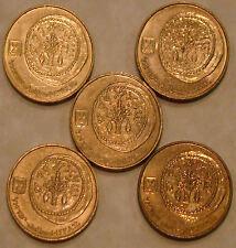 5 Ancient Widow's Widows Mite Mites on Modern Israel Israeli 5 Agorot Coins LOT