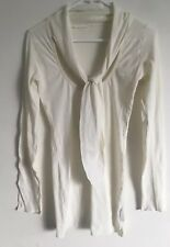 METALICUS White longsleeve Top with Neck Tie_ One Size_EXC  _ Pick Up or Post