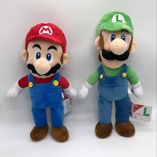 "2X New Super Mario Bros. Plush Maio Luigi Soft Toy Stuffed Animal Doll 16"" BIG"