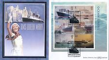 2004 Benham FDC BLCS 280 Ocean Liners Mini Sheet,with info card
