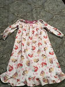 Disney Princesses Flannel Granny Nightgown, Gown, Size 3T