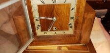 Vintage Art Deco 'Perivale' 8-Day Walnut Mantel Clock with Westminster Chimes