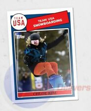 2018 Topps TBT #32 Chloe Kim ONLY from US Winter Olympic Set 6 1984 Snowboarding