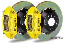 Brembo Rear GT Brake 4piston Yellow 380x34 Slot Disc for Genesis Sedan 15-16 RWD