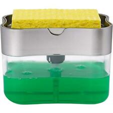 Soap Pump Dispenser & Sponge Holder for Dish Soap and Sponge for Kitchen