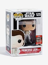 STAR WARS CELEBRATION 2017 FUNKO POP! EXCLUSIVE #125 HOTH LEIA w/Protector Rare