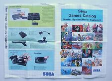 Catalogue poster ancien jeux console master system Mega drive game gear sega