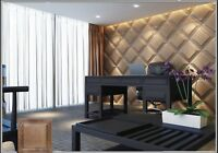 *PANEL* 3D Decorative Wall Stone Panels. Form Plastic mould for Plaster, Gypsum