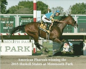 """2015 - AMERICAN PHAROAH winning the Haskell Stakes at Monmouth - 10"""" x 8"""""""